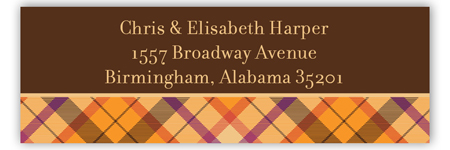 Spiced Tartan Address Label
