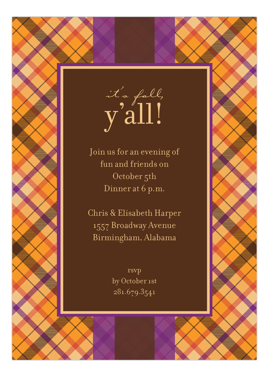 Spiced Tartan Invitation