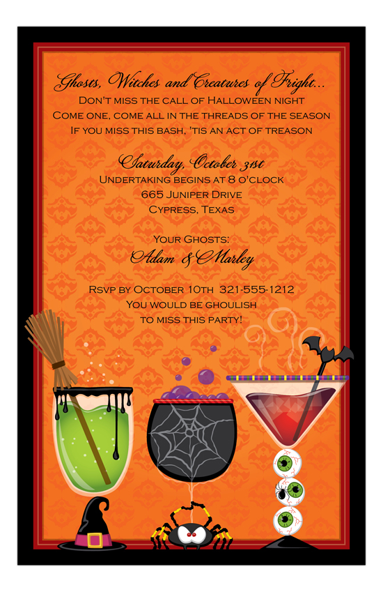 Spirits and Spooks Invitation