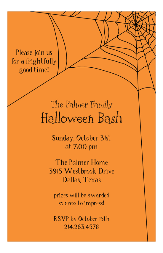 Spooky Webs Invitation