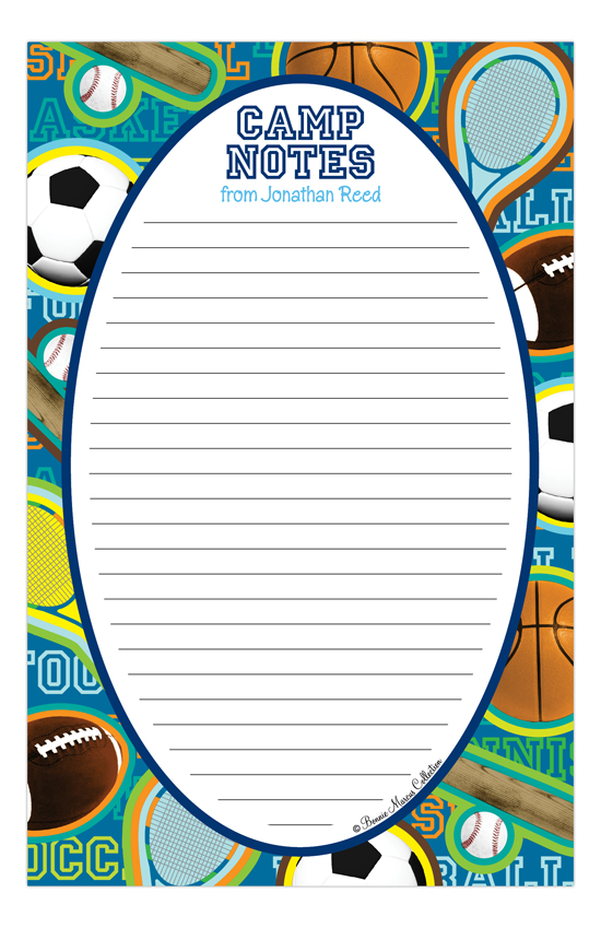 Sports Camp Notepad