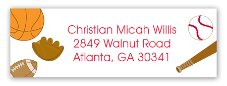 Sports Time Address Label