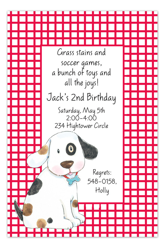 Spotted Dog Invitation