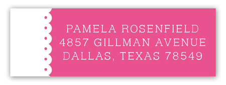 Spring Scalloped Pink Address Label
