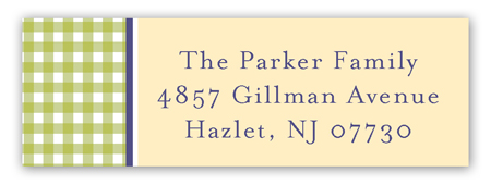 Springtime Gingham Address Label