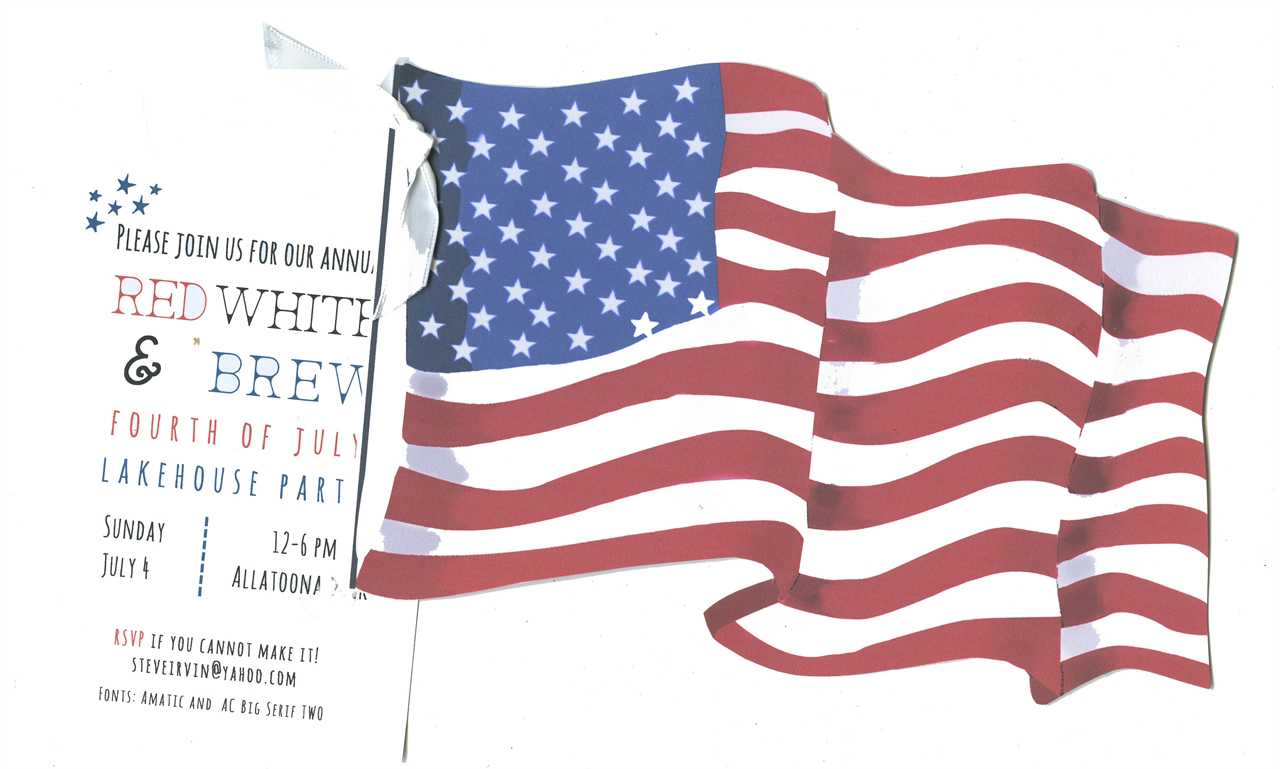 Old Glory 4th of July Party Invitation