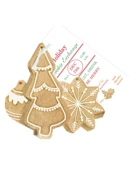 Christmas Cookies Invitation with Glitter