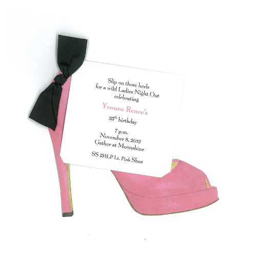 High Heel (Pink) Invitation