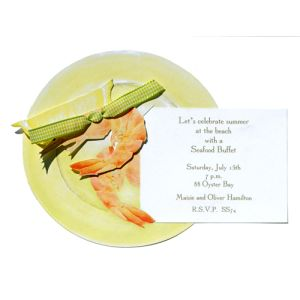 Shrimp Plate Invitation