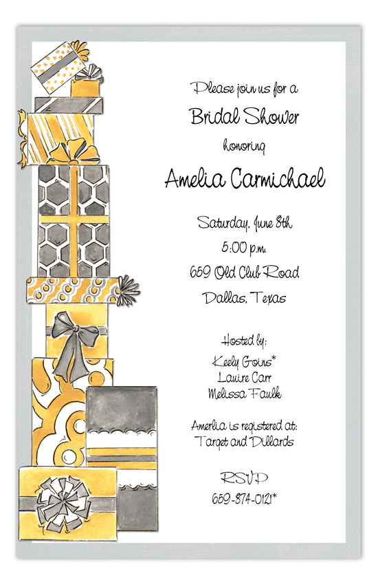 Stack Em High Grey Invitation