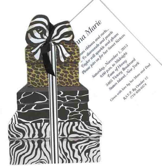Stacked Animal Print Bo Invitation