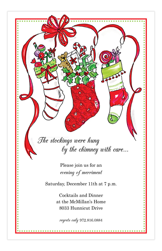 Stocking Stuffer Invitation