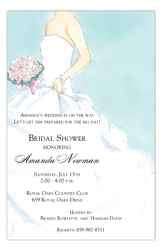 Strapless Side Bride Invitation