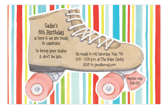 Striped Skating Invitation