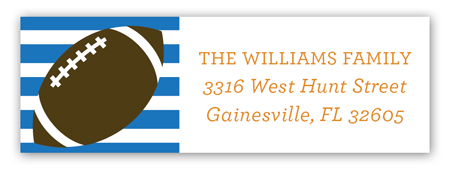 Stripes Football Tailgate Address Label