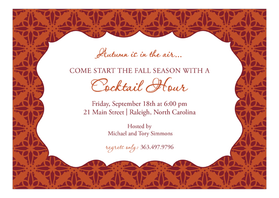 Stylish Fall Invitation