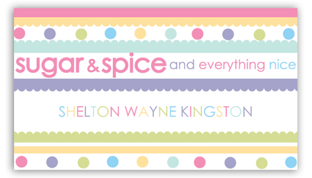 Sugar and Spice Calling Card