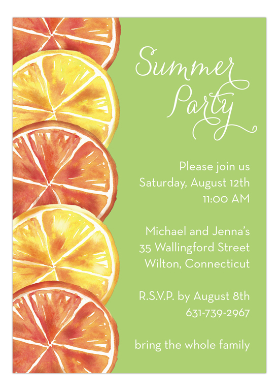 Summer Party Citrus