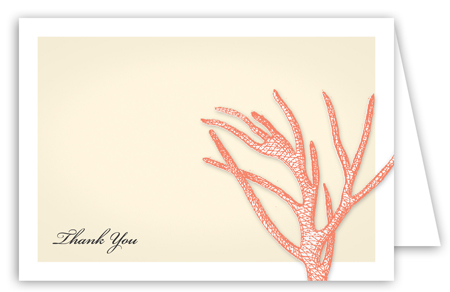 Summer Coral Note Card