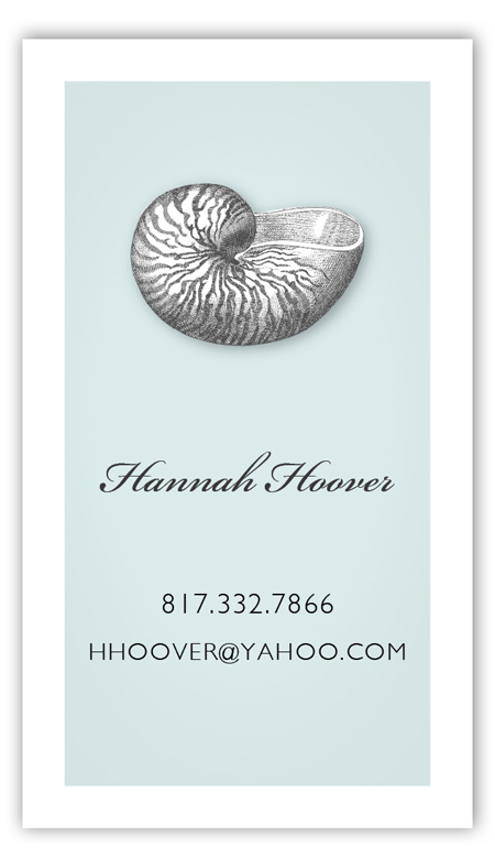 Summer Seashells Calling Card