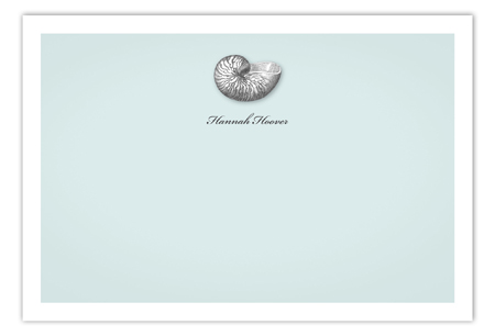 Summer Seashells Flat Note Card