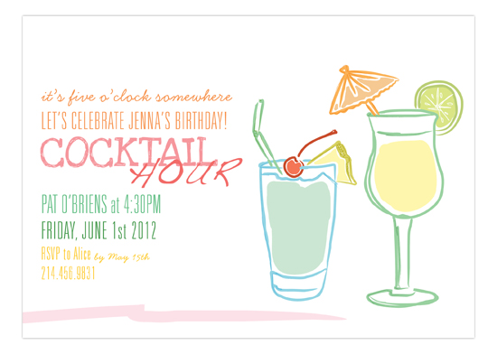 Summer Sips Invitation