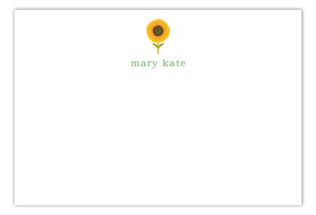 Sunny Flower Flat Note Card