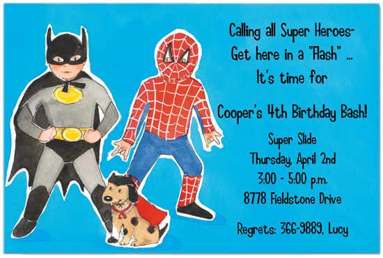 Super Friends Invitation