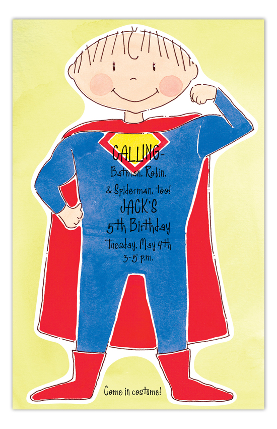 Superhero Party Boy Invitation