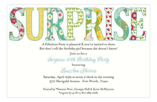 Surprise Multi Patterns Invitation
