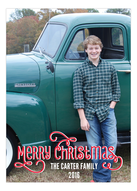 Swashbuckling Merry Christmas Photo Card