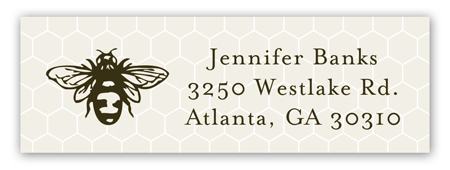 Sweet Bee Personalized Return Address Labels