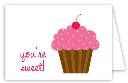 Sweet Cupcake Note Card