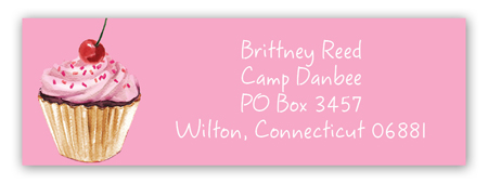 Sweet Notes Camp Address Label