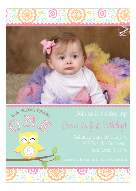 Sweet Owl Photo Invitation