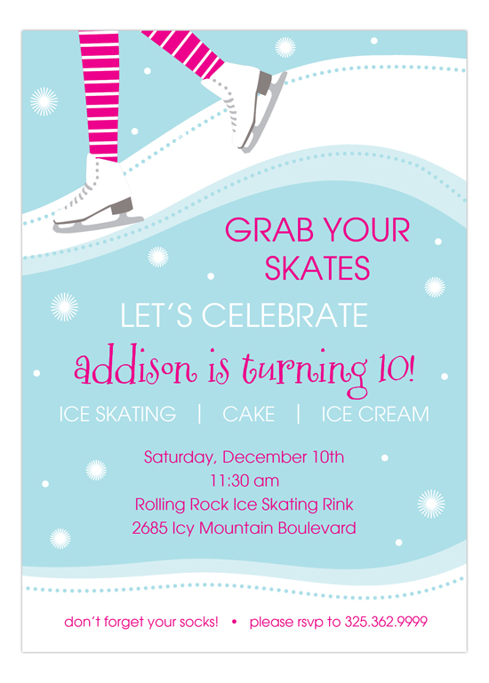Sweet Skating Invitation