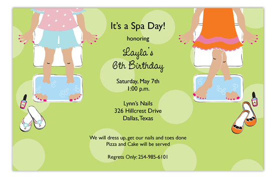 Sweet Spa Day Invitation