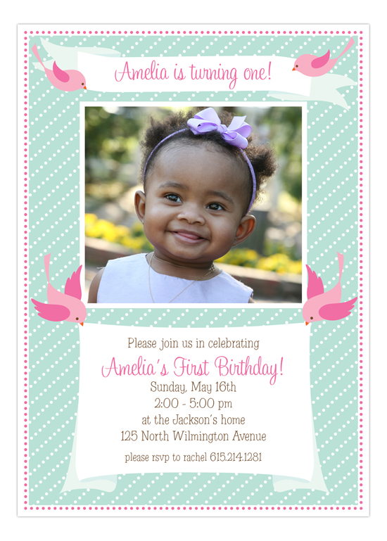 Sweet Tweets Photo Invitation