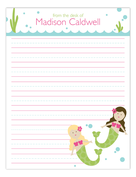 Swimming Mermaids Notepad