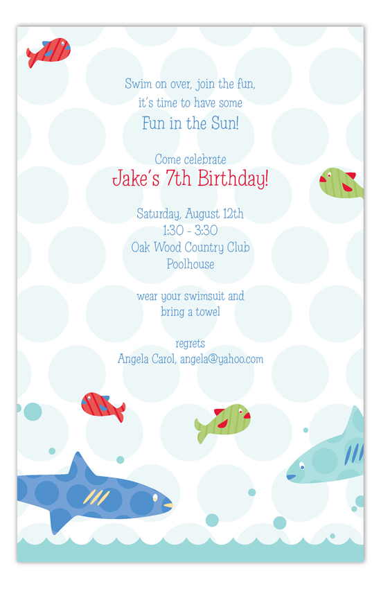 Swimming Sharks Invitation