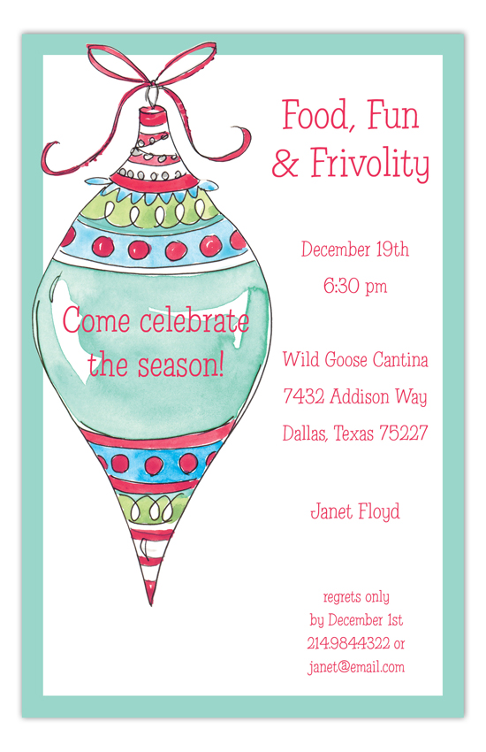 Tall Ornament Invitation