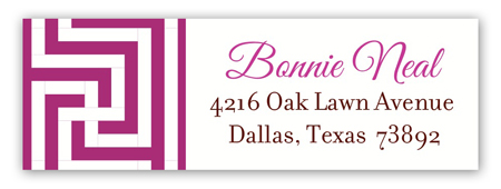Tangerine Berry China Floral Address Label