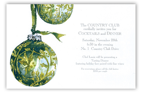 Tapestry Globes Invitation