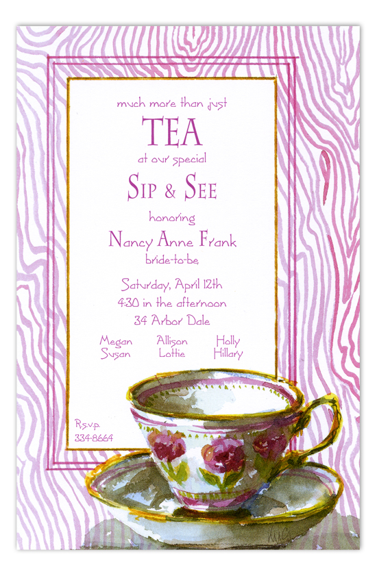 Tea Cup Invitation