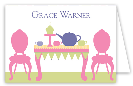 Tea Time Folded Note Card
