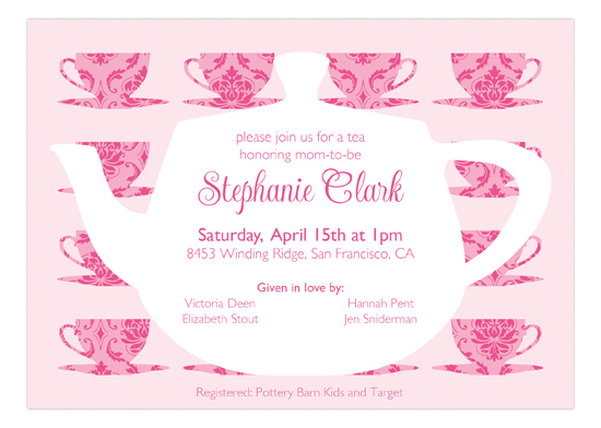 Tea Time Pink Invitation