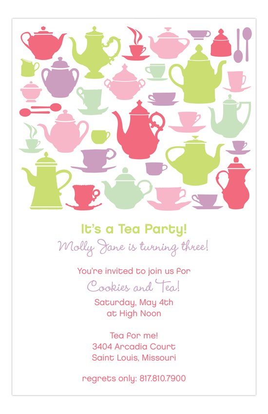 Tea Time Silhouettes Party Invitation – Invitation for Tea Party