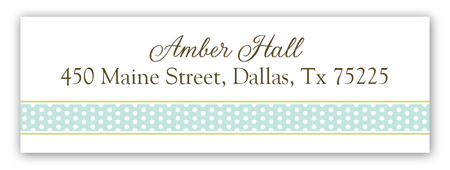 Teal Damask Monogram Address Label