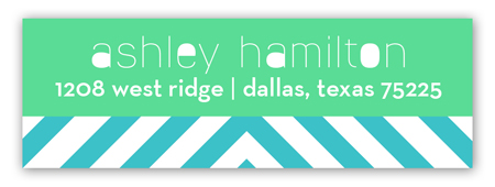 Teal Graphic Address Label