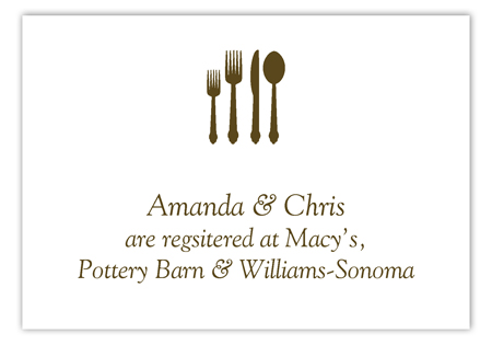 Teal Plated Dinner Enclosure Card